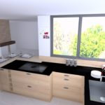Cuisine bois moderne et plan compact FENIX pleine masse en 21 mm 8
